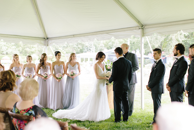 Happenings Party Rentals Vows Under the 30x60 NaviTrac Frame Tent in Caledon