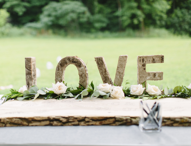 Birch Love Letters - Happenings Party Rentals