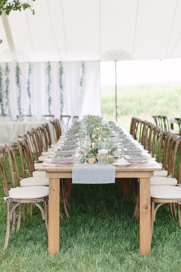 Happenings Party Rentals - Harvest Tables with Crossbacks