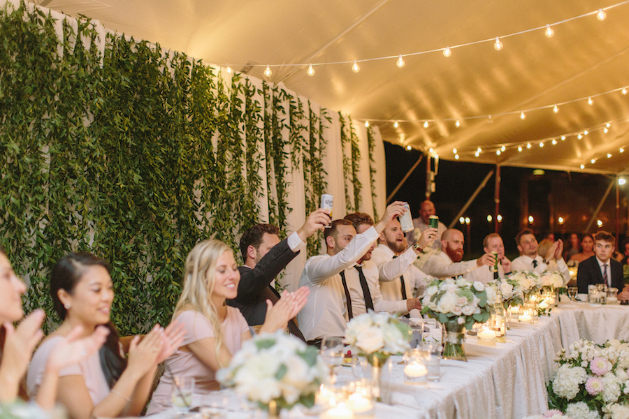 Happenings Party Rentals - Toast to the Newlyweds
