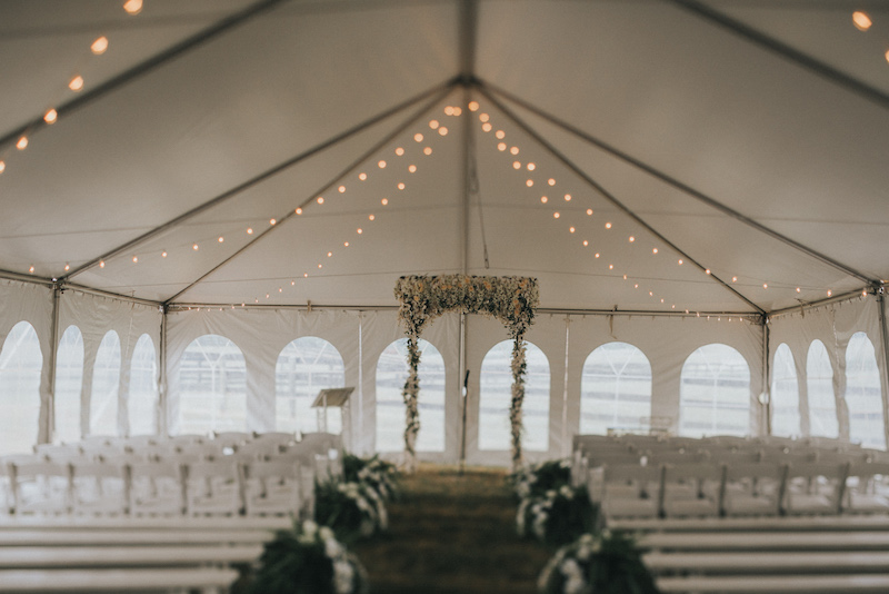 Happenings Party Rentals Ceremony Wedding Tent