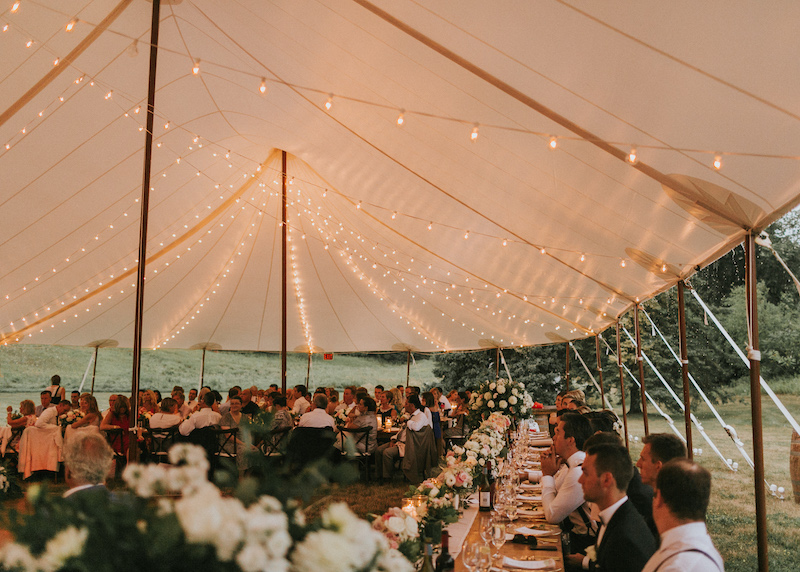 Happenings Party Rentals Gorgeous Shot from Beneath the Stillwater