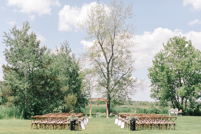 Happenings Party Rentals Crossback Wedding Ceremony