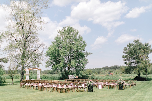 Happenings Party Rentals Crossback Wedding Ceremony2