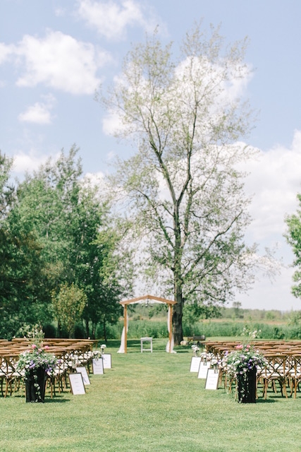 Happenings Party Rentals Wedding Ceremony in Stayner