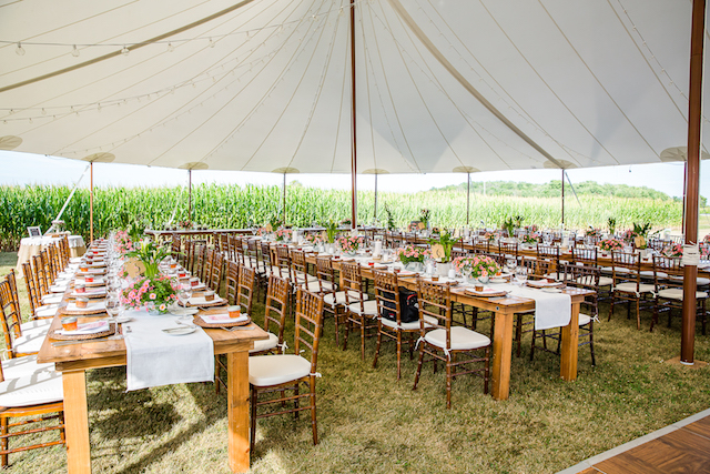 Happenings Party Rentals Stillwater Harvest Tables Chiavari Chairs