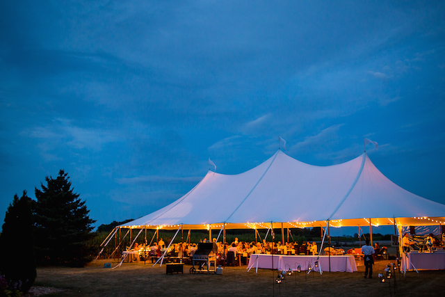Happenings Party Rentals Stillwater Pole Tent in Stratford