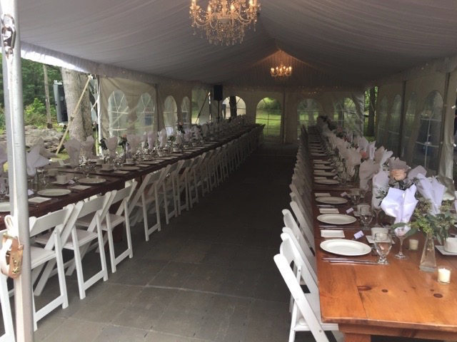 Happenings Party Rentals Frame Tent With Liner