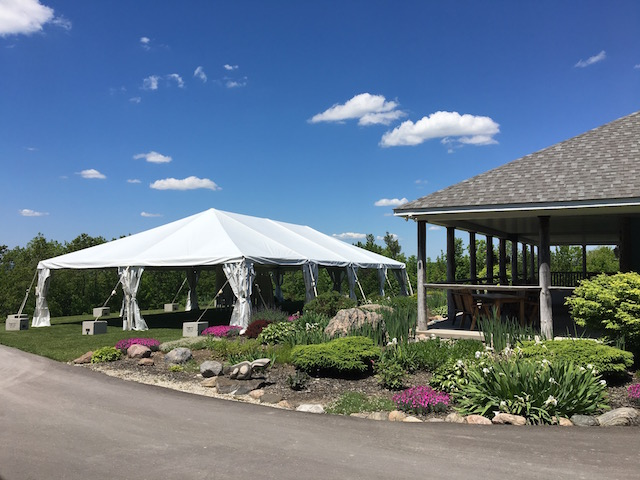 Happenings Party Rentals 30X60 Frame Tent at Vespra Hills Golf Club