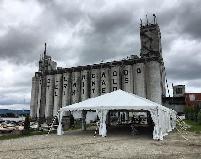 Happenings Party Rentals 30X70 Frame Tent at the Collingwood Terminals