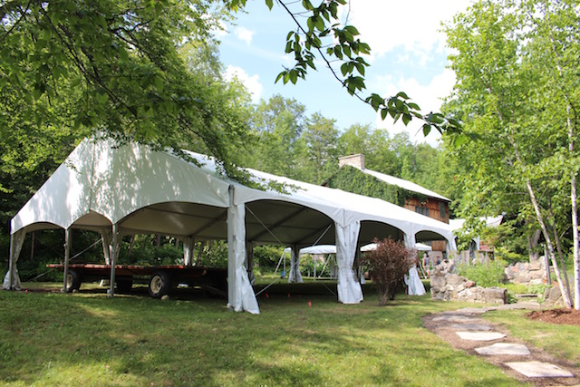 Happenings Party Rentals 40X60 Clearspan Tent Honeywood