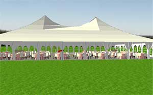 Professional rendering of an event layout