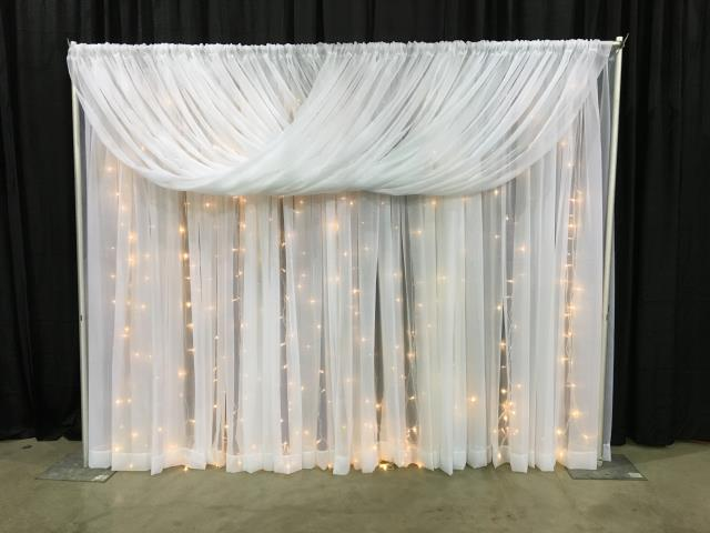 Where to rent Back Drop Sheer Drapery 20 PKG in Barrie Ontario, Toronto, Nottawasaga Bay, Georgian Triangle