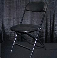 Where to find Black Folding Chair in Collingwood