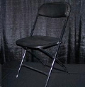 Rental store for Black Folding Chair plastic seat in Collingwood ON