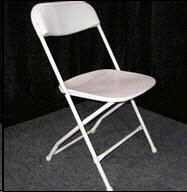 Where to rent White Folding Chair plastic seat in Barrie Ontario, Toronto, Nottawasaga Bay, Georgian Triangle