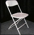 Rental store for White Folding Chair plastic seat in Collingwood ON