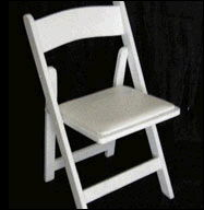 Where to rent White Wooden Folding Chair in Barrie Ontario, Toronto, Nottawasaga Bay, Georgian Triangle