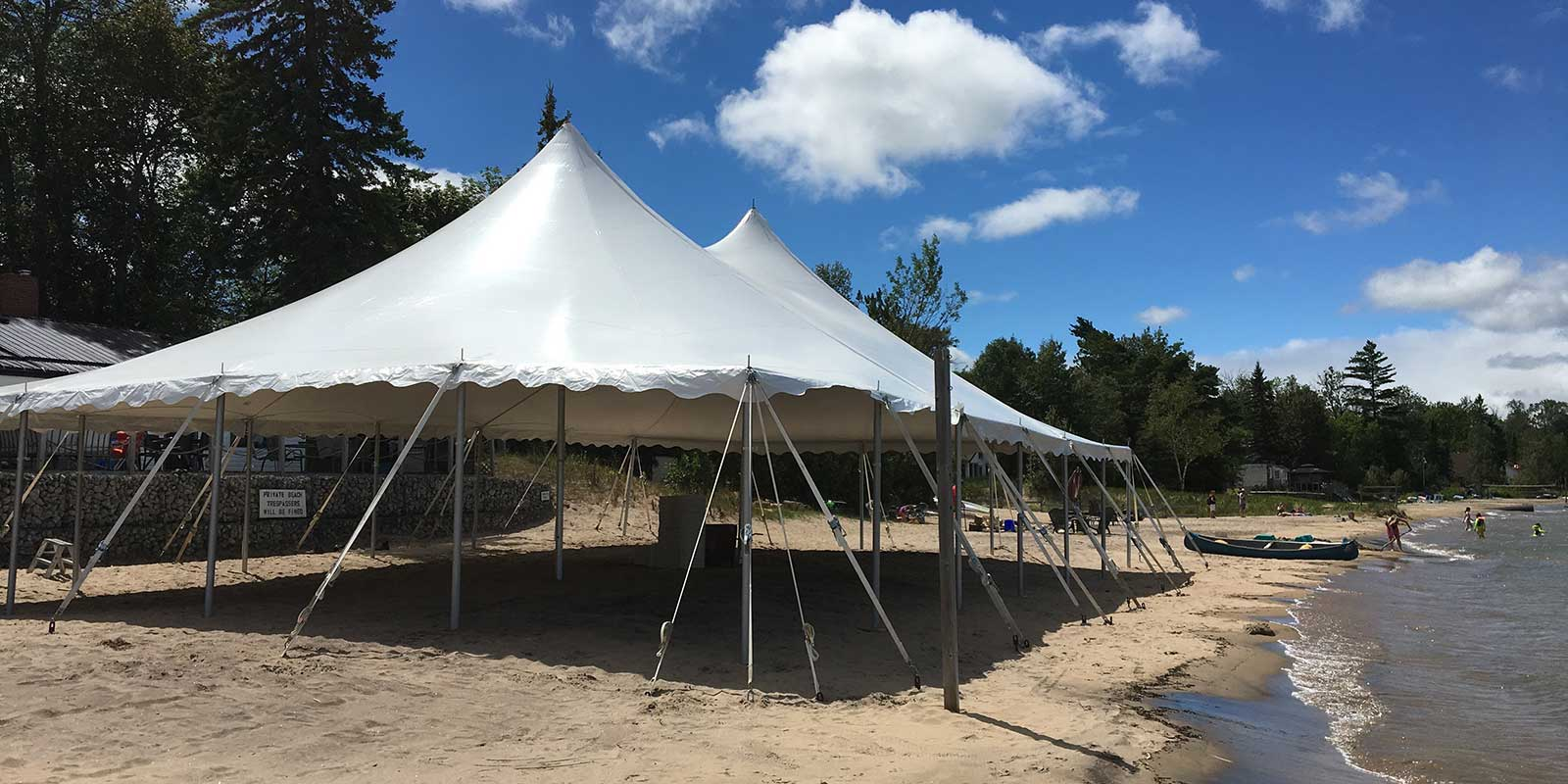 Rent party tents at Happenings Party Rentals in Collingwood ON
